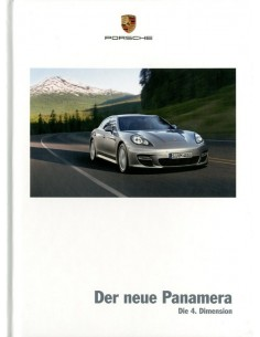 2009 PORSCHE PANAMERA HARDCOVER BROCHURE GERMAN