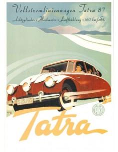 1947 TATRA 87 BROCHURE DUTCH