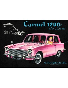 1963 AUTOCARS CARMEL 1200 DELUXE BROCHURE ENGELS