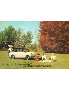 1960 AUTOBIANCHI BIANCHINA PANORAMICA BROCHURE FRENCH