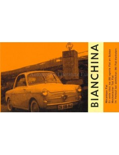 1959 AUTOBIANCHI BIANCHINA BROCHURE FRENCH / GERMAN