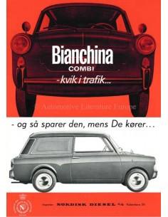 1965 AUTOBIANCHI BIANCHINA COMBI PROSPEKT DÄNISCH