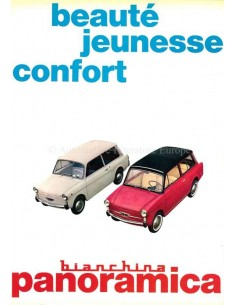 1965 AUTOBIANCHI BIANCHINA PANORAMICA BROCHURE FRANS