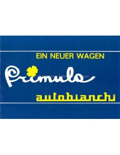 1964 AUTOBIANCHI PRIMULA PROSPEKT DEUTSCH