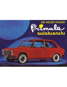 1964 AUTOBIANCHI PRIMULA LEAFLET GERMAN