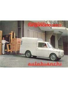 1965 AUTOBIANCHI BIANCHINA FURGONCINO DATENBLATT ITALIENISCH