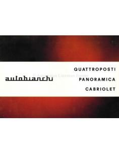 1966 AUTOBIANCHI QUATTROPOSTI / PANORAMICA / CABRIOLET BROCHURE NEDERLANDS