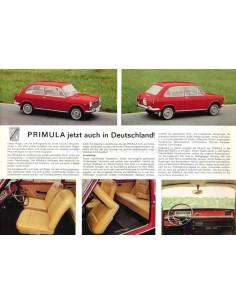 1966 AUTOBIANCHI PRIMULA DATENBLATT DEUTSCH