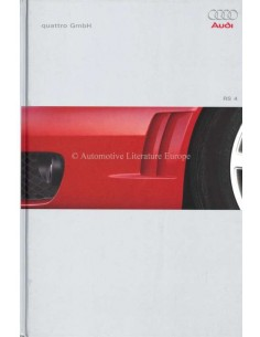 2000 AUDI RS4 HARDCOVER PROSPEKT GERMAN