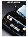 1987 BMW M3 M5 M635CSI PROSPEKT ENGLISCH