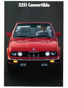 1989 BMW 3ER CABRIOLET PROSPEKT ENGLISCH (USA)