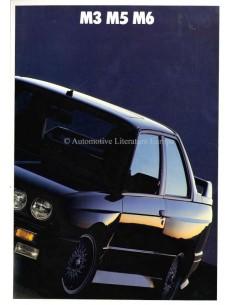 1988 BMW M3 M5 M6 PROSPEKT ENGLISCH (USA)