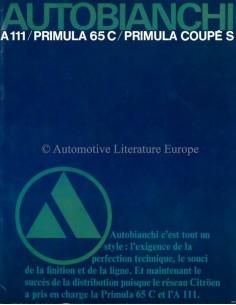 1969 AUTOBIANCHI RANGE BROCHURE FRENCH