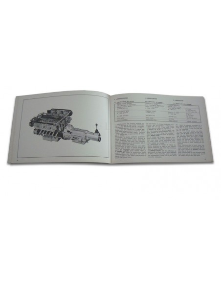 1971 LAMBORGHINI JARAMA INSTRUCTIEBOEKJE
