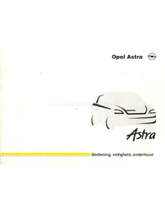 1998 OPEL ASTRA OWNER'S MANUAL DUTCH