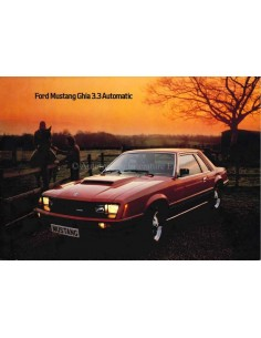 1980 FORD MUSTANG GHIA 3.3 AUTOMATIC BROCHURE ENGELS (USA)