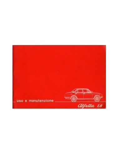 1976 ALFA ROMEO ALFETTA 1.8 INSTRUCTIEBOEKJE ITALIAANS