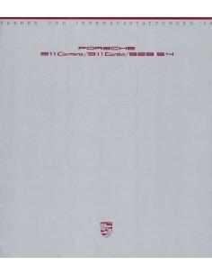 1990 PORSCHE 911 / 928 KLEUREN & INTERIEUR BROCHURE DUITS