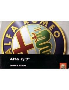 2003 ALFA ROMEO GT INSTRUCTIEBOEKJE ENGELS