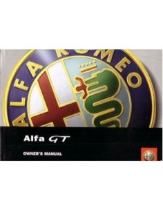 2003 ALFA ROMEO GT OWNERS MANUAL HANDBOOK ENGLISH