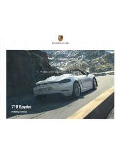 2020 PORSCHE 718 SPYDER HARDBACK BROCHURE ENGLISH
