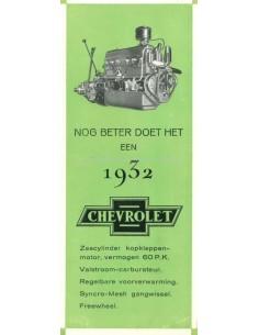 1932 CHEVROLET RANGE BROCHURE DUTCH