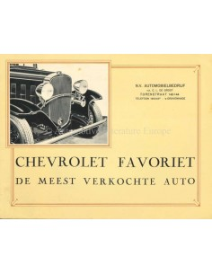 1932 CHEVROLET PROGRAMMA BROCHURE NEDERLANDS
