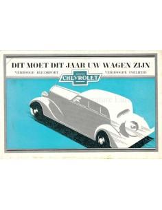 1934 CHEVROLET MASTER PROGRAMMA BROCHURE NEDERLANDS