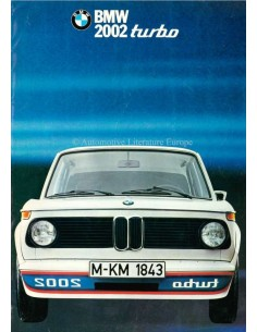 1974 BMW 2002 TURBO BROCHURE GERMAN