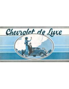 1936 CHEVROLET DE LUXE PROGRAMMA BROCHURE NEDERLANDS