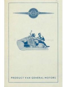 1936 CHEVROLET PRICE LIST DUTCH