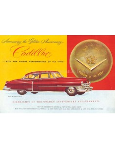 1952 CADILLAC SERIE 60 / 62 / 75 BROCHURE DUTCH