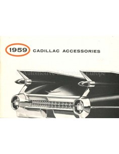 1959 CADILLAC ACCESSORIES BROCHURE ENGLISH (US)