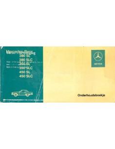 1974 MERCEDES 350 SLC SERVICE & WARTUNG HANDBUCH NIEDERLÄNDISCH