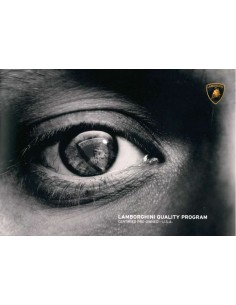 2012 LAMBORGHINI QUALITY PROGRAM BROCHURE ENGELS