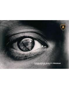 2012 LAMBORGHINI QUALITY PROGRAMM PROSPEKT ENGLISCH