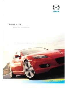 2003 MAZDA RX-8 BROCHURE DUTCH
