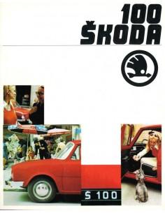 1970 SKODA 100 BROCHURE DUITS
