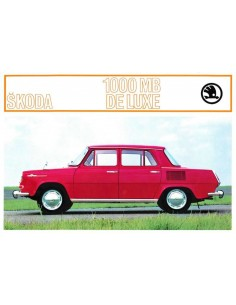 1969 SKODA 1000 MB BROCHURE NEDERLANDS