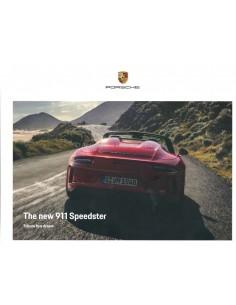 2019 PORSCHE 911 SPEEDSTER HARDCOVER PROSPEKT ENGLISCH