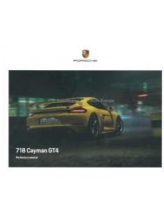 2020 PORSCHE 718 CAYMAN GT4 HARDCOVER BROCHURE ENGLISCH