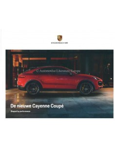 2020 PORSCHE CAYENNE COUPE HARDBACK BROCHURE DUTCH