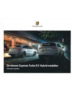 2020 PORSCHE CAYENNE / COUPE TURBO S E-HYBRID HARDBACK BROCHURE DUTCH