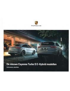 2020 PORSCHE CAYENNE / COUPE TURBO S E-HYBRID HARDCOVER PROSPEKT NIEDERLÄNDISCH