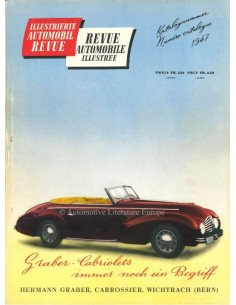 1947 AUTOMOBIL REVUE JAHRESKATALOG DEUTSCH FRANZÖSISCH