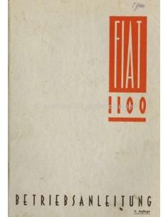 1940 FIAT 1100 OWNERS MANUAL GERMAN