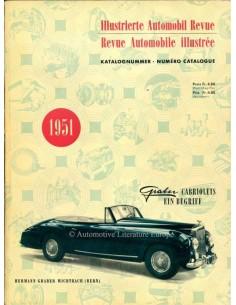 1951 AUTOMOBIL REVUE JAHRESKATALOG DEUTSCH FRANZÖSISCH