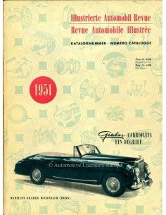 1951 AUTOMOBIL REVUE YEARBOOK GERMAN FRENCH