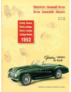 1952 AUTOMOBIL REVUE YEARBOOK GERMAN FRENCH
