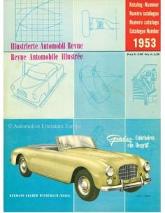 1953 AUTOMOBIL REVUE JAHRESKATALOG DEUTSCH FRANZÖSISCH